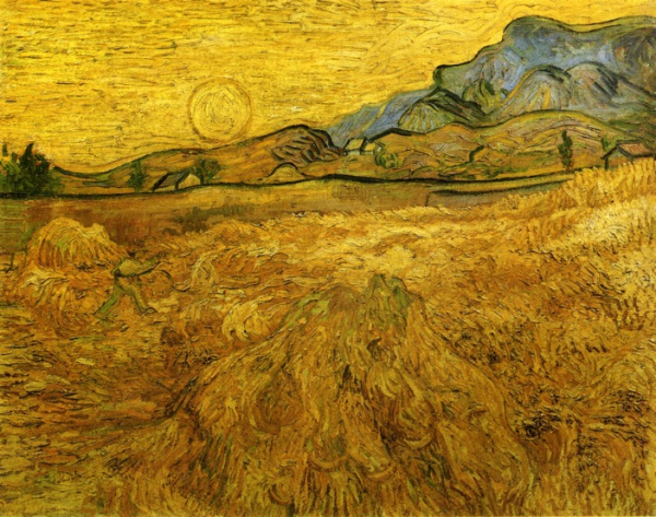 van gogh wheatfield with reaper